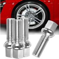 4pcs Vis Ecrou Boulon Roue Jante M14 x 1.5 35mm Filet Acier Alliage pour Audi
