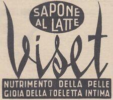 V0041 Sapone al latte VISET - Pubblicità d'epoca - 1938 vintage advertising