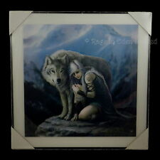 *PROTECTOR* Goth Fantasy Wolf Art Framed 3D Print By Anne Stokes (60x60cm)