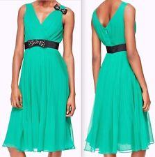 BNWT New sz 2 Kate Spade New York Embellished Bow Hot Green Dress $448