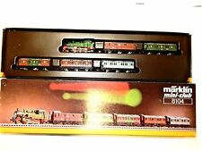 Marklin Mini-Club 8104 Royal Prussian Railroad 5 car passenger train set w box!-