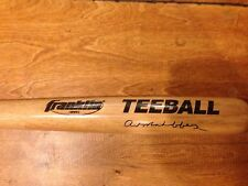 "Art Mahaffey Signed Autograph Franklin Tee Ball Wood Baseball Bat 27"" Phillies"
