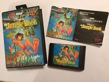 Sega Genesis Megadrive Jeu Disney's Jungle Book + boîte instructions complet PAL