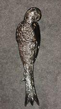BEAUTIFUL LARGE SILVER METAL PARROT BIRD DISPLAY DISH - BRAND NEW!