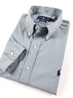 Ralph Lauren Men's Shirt Grey Performance Poplin Stretch Classic Fit