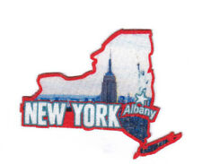 """""""ALBANY NEW YORK""""  State Shape Capitol City Iron On Printed Patch"""