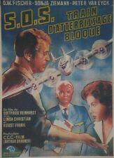 """""""S.O.S. TRAIN D'ATTERRISSAGE BLOQUE"""" Affiche originale entoilée 1960 62x84cm"""