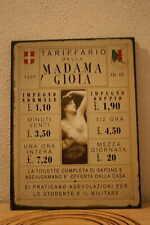 Antigua placa con tarifas de servicios (MOD2). VINTAGE