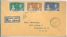 POSTAL HISTORY -  BAHAMAS : FDC COVER 1937 Coronation of King George VI