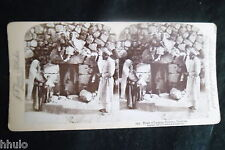 STB006 Le tombeau de Lazarre Bethany STEREO albumen Photography Stereoview