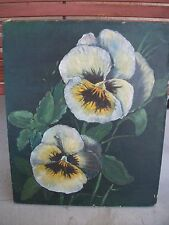 """Vintage Painting of a Pansy, by Blanch Hesslein  20"""" x 24"""""""