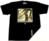 STREETWISE PAID IN FULL Gun Money T-shirt Urban Streetwear Tee Mens  Black NWT