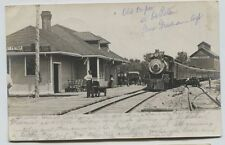 1906 St. Peter MN Minnesota Awesome Railroad Depot Passenger Train Elevator RPPC