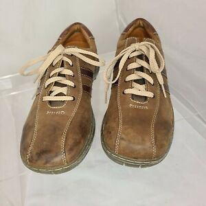 Skechers Men's size 9.5 Brown Leather Casual Oxford Shoe Lace Up
