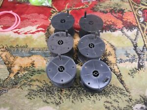 6 PCS  Replacement Tip Up Reels Spools Plastic 500 Ft Capacity