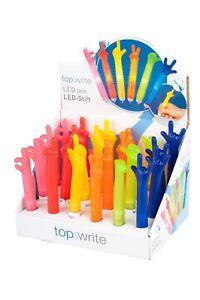TopWrite LED Kugelschreiber Design Stift Pen Leuchte Leuchtstift Stiftleuchte