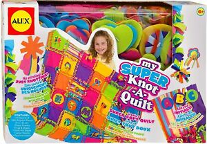 ALEX My Super Knot A Quilt Creative Craft Activity Set Kit New Girls Toy Age 6+