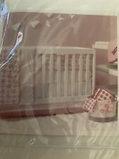 Petit Nest Penelope Collection Crib Dust Ruffle Bed Skirt in Pink