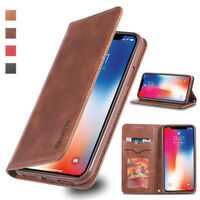 For iPhone XR XS Max 6S 7 8 Plus Flip Wallet Case Magnetic Leather Cover Stand