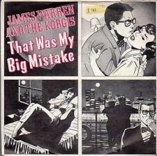 disco 45 GIRI James WARREN AND THE KORGIS THAT WAS MY BIG MISTAKE - CAN'T WE BE