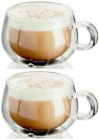 Judge Cappuccino Glass Set of 2 | Insulated & Double Walled - Dishwasher Safe,