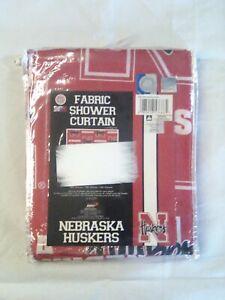 Nebraska Huskers Fabric Shower Curtain