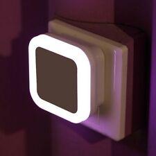 White EU Plug LED Induction Sensor Control Bedroom Night Light Bed Lamp Auto