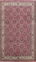 Geometric Hand-knotted Kashaan Oriental Area Rug Living Room Wool Carpet 7'x10'