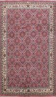 Geometric Hand-knotted Kashaan Oriental Area Rug Living Room Wool Carpet 7'x10'