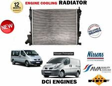 FOR NISSAN PRIMASTAR 2.0 DCI 90 120  2006-> NEW ENGINE COOLING RADIATOR