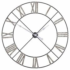 Large Antique Style Distressed Contemporary Skeleton Metal Wall Clock 110cm