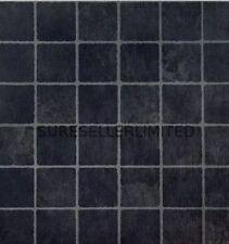 50 x BLACK SM SQUARES SELF ADHESIVE STICK ON VINYL FLOORING FLOOR TILES KITCHEN