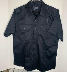 5.11 tactical 71177 mens twill pdu clas b s/s shirt midnight blue size large