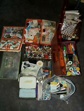 MASSIVE MIXED LOT OF ASSORTED VINTAGE SEWING SUPPLIES GARGANTUAN LOAD of BUTTONS