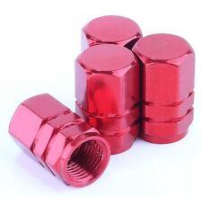 In alluminio rosso 4 PZ per Auto Camion Bike Tire Pneumatici Cerchi Air Stelo Della Valvola Caps Copertura