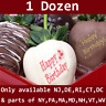 1 Dozen Happy Birthday Chocolate Covered Strawberries w delivery date selection
