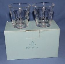 PartyLite Lotus Blossom Votive Candle Holders - P8491 - Set of 2 - NEW