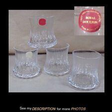 Vintage Set 4 Royal Doulton Old Fashion Whiskey Glasses Sonnet Pattern Unused