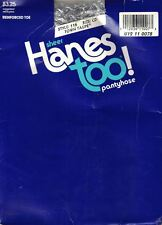 Hanes Too Pantyhose Size CD Color Town Taupe Reinforced Toe