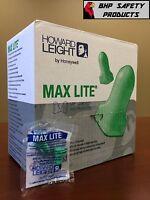 (200 PAIR) HOWARD LEIGHT MAX LITE UNCORDED DISPOSABLE EAR PLUGS SLEEP AID LPF-1
