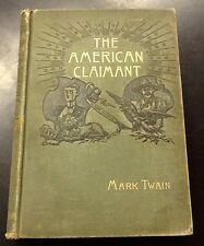 The American Claimant, Mark Twain, 1st Ed, 1892, Webster, hardcover