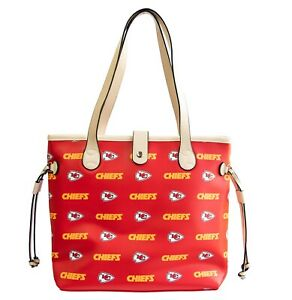 Kansas City Chiefs Woman's Patterned Tote Hand Bag NFL Authentic by Littlearth
