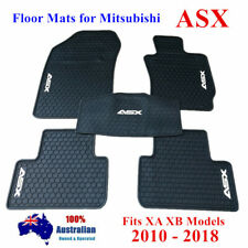 Waterproof Rubber Floor Mats Tailored For Mitsubishi ASX XA XB 2010 - 2019 Black