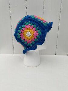 Bucket Hat Festival Cotton Crochet  Boho Vintage Retro Hippy Handmade Summer
