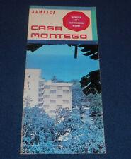 Vintage 1960s Casa Montego Bay Resort Hotel Jamaica Color Print Ad Brochure
