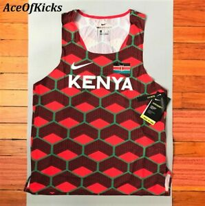 Nike Aeroswift ADV Team Kenya Kipchoge Singlet Tank Top Sz Medium - CV0371-673