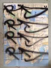RD357 GRAFFITI sur plan de métro NYC /Subway Map/obey/taki/quik/seen/cope2/sonic