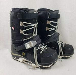 Vans World Traveler X-Type Switch Bindings Step-In Snowboard Boots US Size 10