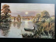 Sussex FRANCE MERE c1905 showing man fishing from boat by S.Hildesheimer 5399