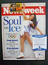 Michelle Kwan Olympic Skater Signed Newsweek Magazine Cover Photo BAS Certified